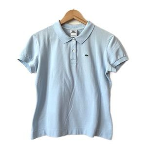 Lacoste Baby Blue Woman Polo Size 46-M